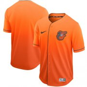 Wholesale Cheap Nike Orioles Blank Orange Fade Authentic Stitched MLB Jersey