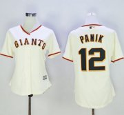 Wholesale Cheap Giants #12 Joe Panik Cream Women's Home Stitched MLB Jersey