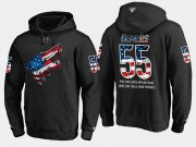 Wholesale Cheap Coyotes #55 Jason Demers NHL Banner Wave Usa Flag Black Hoodie
