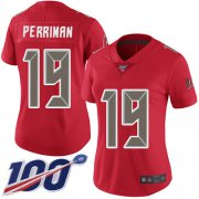 Wholesale Cheap Nike Buccaneers #19 Breshad Perriman Red Women's Stitched NFL Limited Rush 100th Season Jersey