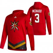 Wholesale Cheap Vegas Golden Knights #3 Brayden Mcnabb Adidas Reverse Retro Pullover Hoodie Red