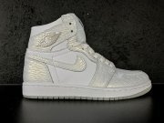 Wholesale Cheap Womens Air Jordan 1 Pure Platinum White/mtllc silver