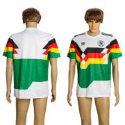 Wholesale Cheap Germany Blank White/Green 1990 Throwback Soccer Country Jersey