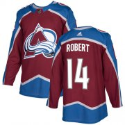 Wholesale Cheap Adidas Avalanche #14 Rene Robert Burgundy Home Authentic Stitched NHL Jersey