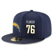 Wholesale Cheap San Diego Chargers #76 D.J. Fluker Snapback Cap NFL Player Navy Blue with White Number Stitched Hat