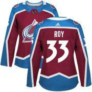 Wholesale Cheap Adidas Avalanche #33 Patrick Roy Burgundy Home Authentic Women's Stitched NHL Jersey