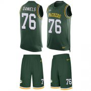 Wholesale Cheap Nike Packers #76 Mike Daniels Green Team Color Men's Stitched NFL Limited Tank Top Suit Jersey