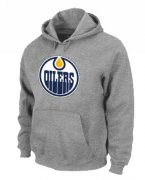 Wholesale Cheap NHL Edmonton Oilers Big & Tall Logo Pullover Hoodie Grey