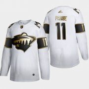 Wholesale Cheap Minnesota Wild #11 Zach Parise Men's Adidas White Golden Edition Limited Stitched NHL Jersey