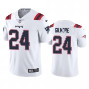 Wholesale Cheap New England Patriots #24 Stephon Gilmore Men's Nike White 2020 Vapor Limited Jersey