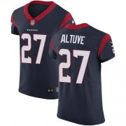 Wholesale Cheap Nike Texans #27 Jose Altuve Navy Blue Team Color Men's Stitched NFL Vapor Untouchable Elite Jersey