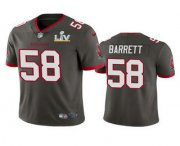 Wholesale Cheap Men's Tampa Bay Buccaneers #58 Shaquil Barrett Grey 2021 Super Bowl LV Limited Stitched NFL Jersey