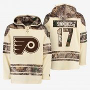 Wholesale Cheap Flyers #17 Wayne Simmonds Cream Camo NHL Hoodie