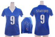 Wholesale Cheap Nike Lions #9 Matthew Stafford Light Blue Team Color Draft Him Name & Number Top Women's Stitched NFL Elite Jersey