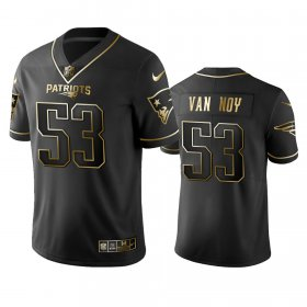 Wholesale Cheap Nike Patriots #53 Kyle Van Noy Black Golden Limited Edition Stitched NFL Jersey