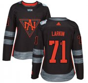 Wholesale Cheap Team North America #71 Dylan Larkin Black 2016 World Cup Women's Stitched NHL Jersey
