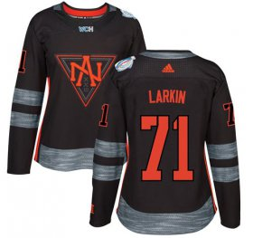 Wholesale Cheap Team North America #71 Dylan Larkin Black 2016 World Cup Women\'s Stitched NHL Jersey