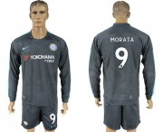 Wholesale Cheap Chelsea #9 Morata Sec Away Long Sleeves Soccer Club Jersey