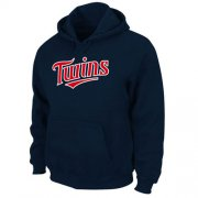 Wholesale Cheap Minnesota Twins Majestic Fleece Hitter Navy MLB Hoodie