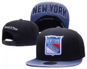 Wholesale Cheap NHL New York Rangers Team Logo Black Mitchell & Ness Adjustable Hat