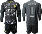Wholesale Cheap Dortmund #1 Burki Away Long Sleeves Soccer Club Jersey