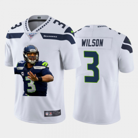 Cheap Seattle Seahawks #3 Russell Wilson Nike Team Hero 1 Vapor Limited NFL 100 Jersey White