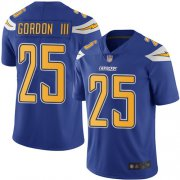 Wholesale Cheap Nike Chargers #25 Melvin Gordon III Electric Blue Men's Stitched NFL Limited Rush Jersey