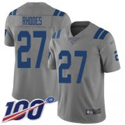 Wholesale Cheap Nike Colts #27 Xavier Rhodes Gray Youth Stitched NFL Limited Inverted Legend 100th Season Jersey