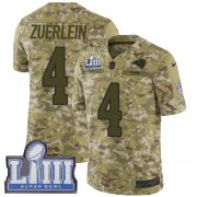 Wholesale Cheap Nike Rams #4 Greg Zuerlein Camo Super Bowl LIII Bound Youth Stitched NFL Limited 2018 Salute to Service Jersey