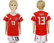 Wholesale Cheap Russia #13 Jikia Home Kid Soccer Country Jersey
