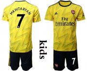 Wholesale Cheap Arsenal #7 Mkhitaryan Away Kid Soccer Club Jersey