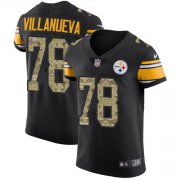 Wholesale Cheap Nike Steelers #78 Alejandro Villanueva Black/Camo Men's Stitched NFL Elite Jersey