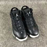 Wholesale Cheap Womens Air Jordan 6 Rings Shoes Black/white