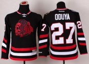 Wholesale Cheap Blackhawks #27 Johnny Oduya Black(Red Skull) 2014 Stadium Series Stitched Youth NHL Jersey