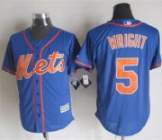 Wholesale Cheap Mets #5 David Wright Blue Alternate Home New Cool Base Stitched MLB Jersey