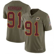 Wholesale Cheap Nike Redskins #91 Ryan Kerrigan Olive Youth Stitched NFL Limited 2017 Salute to Service Jersey