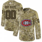 Wholesale Cheap Men's Adidas Canadiens Personalized Camo Authentic NHL Jersey