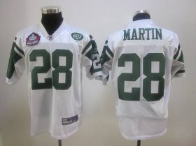 Wholesale Cheap Jets #28 Curtis Martin White Hall of Fame 2012 Stitched NFL Jersey