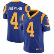 Wholesale Cheap Nike Rams #4 Greg Zuerlein Royal Blue Alternate Youth Stitched NFL Vapor Untouchable Limited Jersey