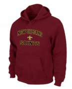 Wholesale Cheap New Orleans Saints Heart & Soul Pullover Hoodie Red