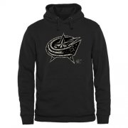 Wholesale Cheap Men's Columbus Blue Jackets Black Rink Warrior Pullover Hoodie