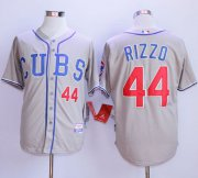 Wholesale Cubs #44 Anthony Rizzo Grey Alternate Road Cool Base Stitched Baseball Jersey
