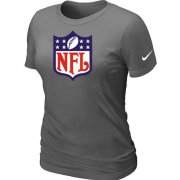 Wholesale Cheap Women's Nike NFL Logo NFL T-Shirt Light Dark Grey