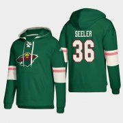Wholesale Cheap Minnesota Wild #36 Nick Seeler Green adidas Lace-Up Pullover Hoodie