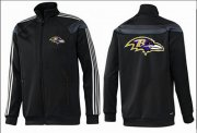 Wholesale NFL Baltimore Ravens Team Logo Jacket Black_3