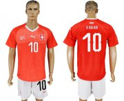 Wholesale Cheap Switzerland #10 Xhaka Red Home Soccer Country Jersey
