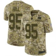Wholesale Cheap Nike Giants #95 B.J. Hill Camo Men's Stitched NFL Limited 2018 Salute To Service Jersey