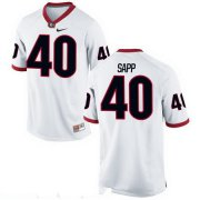 Wholesale Cheap Men's Georgia Bulldogs #40 Theron Sapp White Stitched College Football 2016 Nike NCAA Jersey
