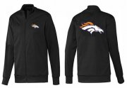 Wholesale Cheap NFL Denver Broncos Team Logo Jacket Black_1