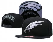 Wholesale Cheap NFL Philadelphia Eagles Fresh Logo Black Adjustable Hat